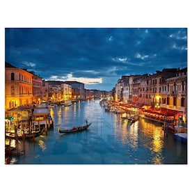 Designart Majestic Sunset Over Venice Cityscape Metal Wall Art In The Wall Art Department At Lowes Com