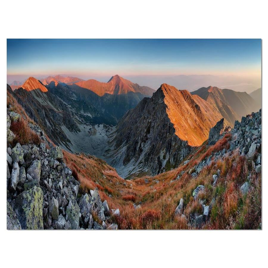 Designart Slovakia Mountains At Autumn Landscape Canvas Art Print In The Wall Art Department At Lowes Com