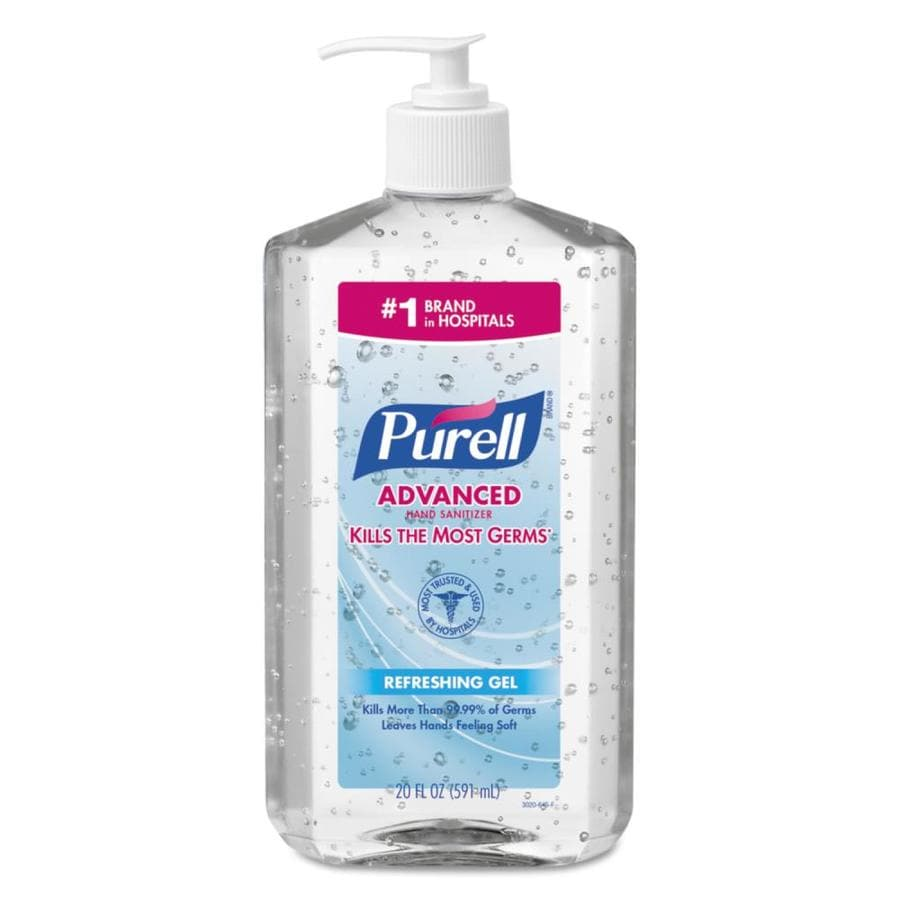 PURELL 12-Count 20-oz Unscented Hand Sanitizer Gel