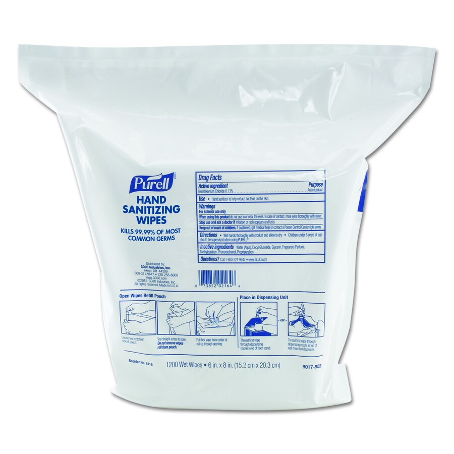 PURELL 2-Count 312-oz Unscented Hand Sanitizer Wipes