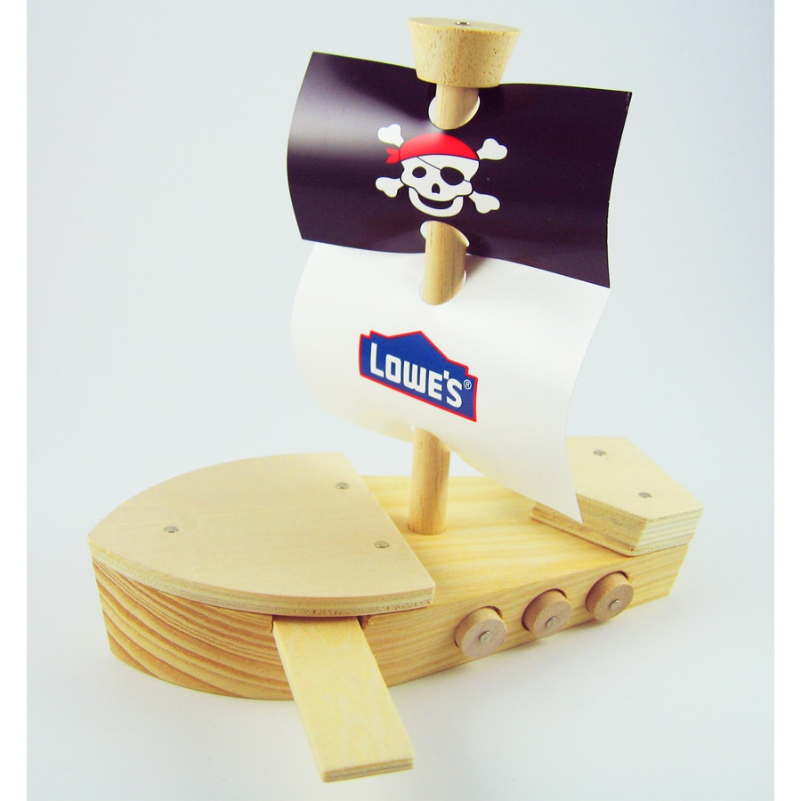 Build and Grow Kid's Beginner Build and Grow Pirate Ship Project Kit