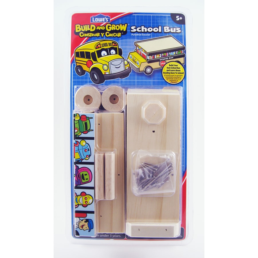 Build and Grow Kid's Beginner Build and Grow School Bus Project Kit