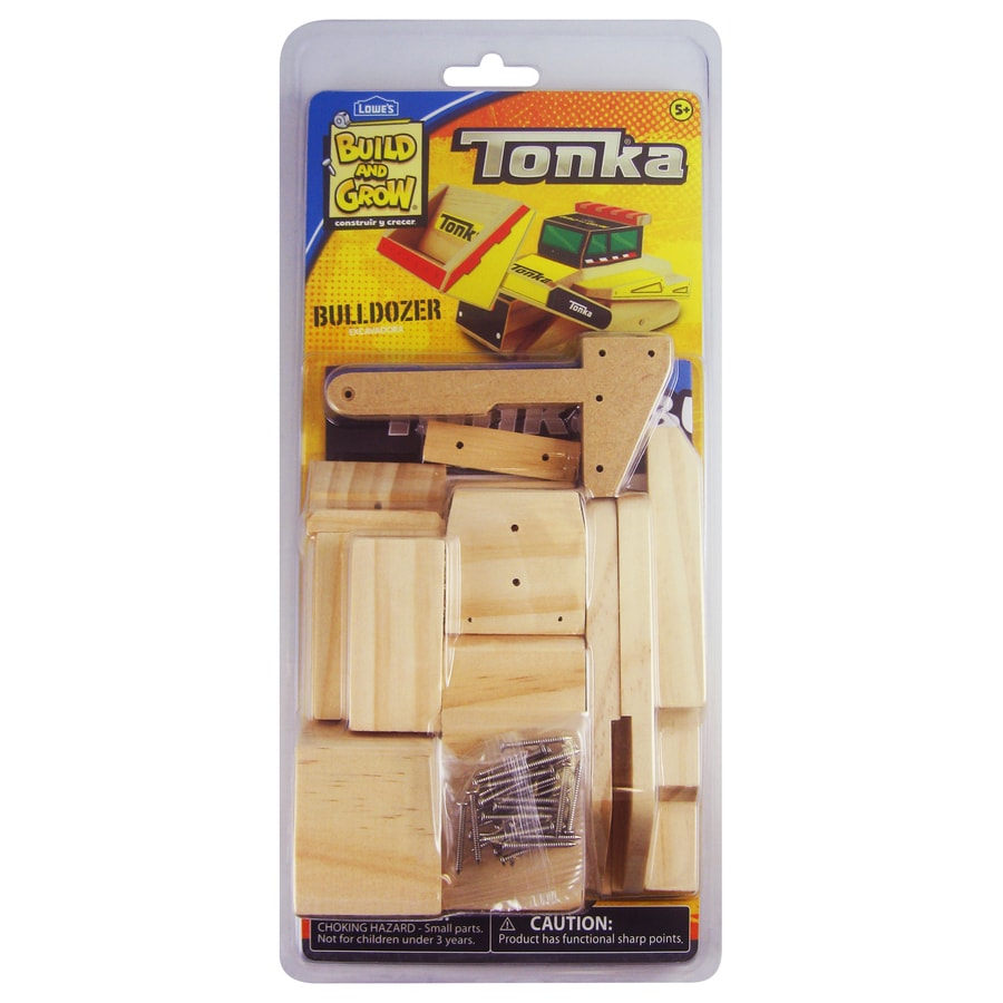 Build and Grow Kid's Beginner Build and Grow Tonka Bulldozer Project Kit