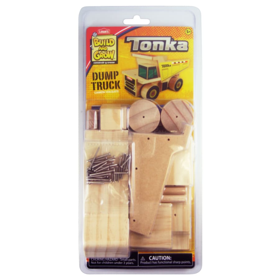 Build and Grow Kid's Beginner Build and Grow Tonka Dump Truck Project Kit