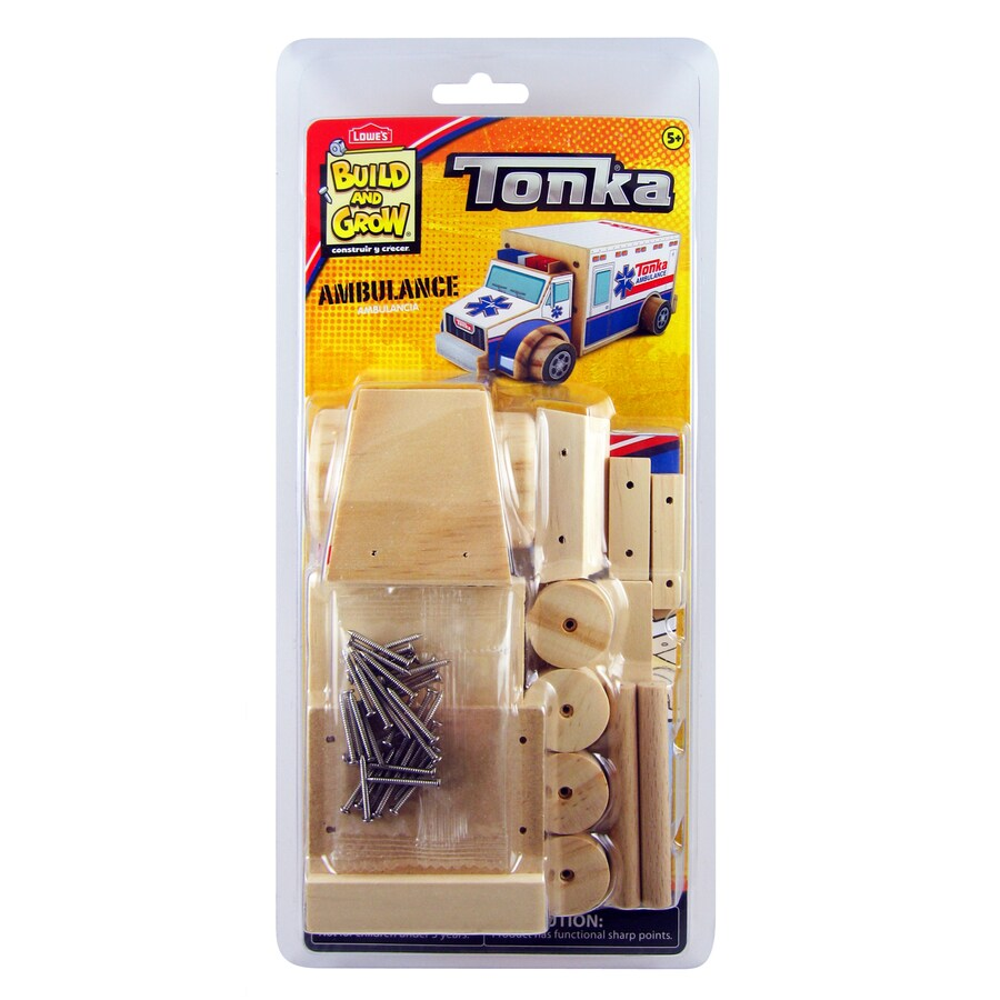 Build and Grow Kid's Beginner Tonka Ambulance Project Kit