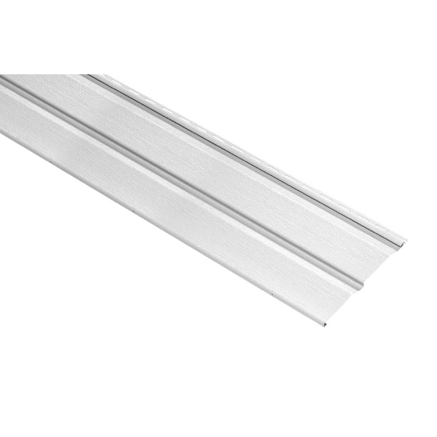 Durabuilt Dutch Lap White Vinyl Siding Panel 11.032-in x 144-in