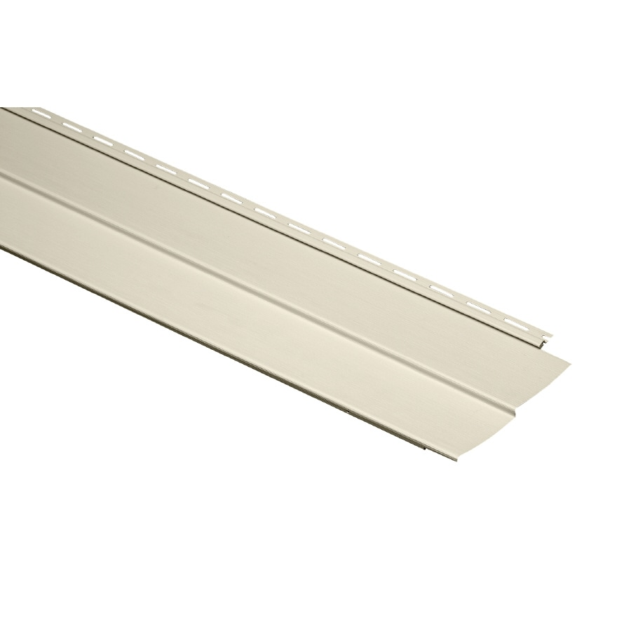 Durabuilt 410 24-Pack Vinyl Siding Panel Double 4 Traditional Cream 9.23-in x 150-in