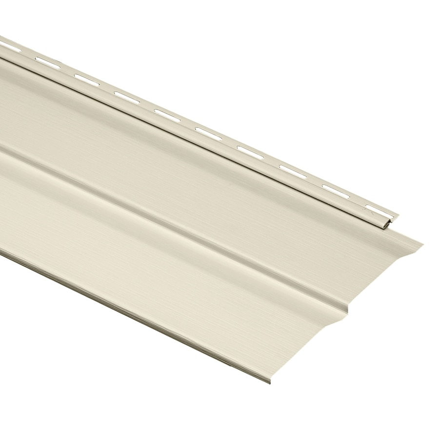 Durabuilt 22-Pack 10.23-in x 145-in Cream Dutch Lap Vinyl Siding Panels