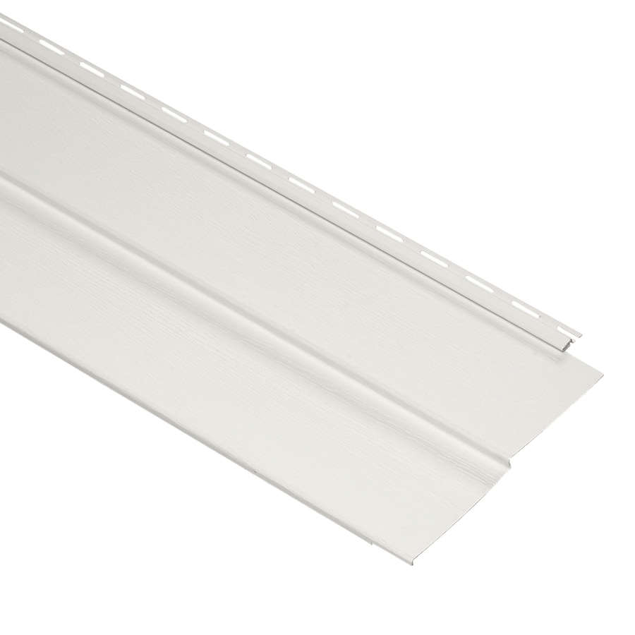 Durabuilt 440 20-Pack Vinyl Siding Panel Double 5 Traditional Linen 11.34-in x 144-in