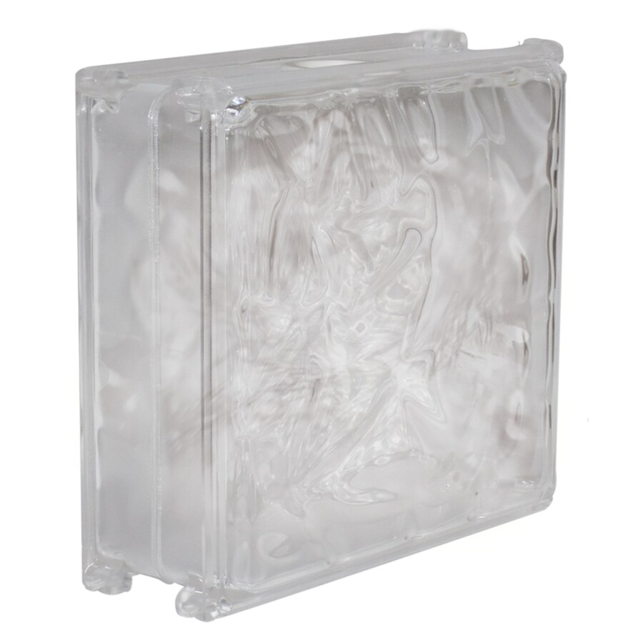 Shop hy lite craft block 24 pack clear wave acrylic block for Clear glass blocks for crafts