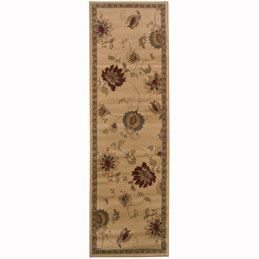 Archer Lane Bellview Ivory Rectangular Indoor Machine-Made Nature Runner (Common: 2 x 8; Actual: 2.5-ft W x 7.75-ft L)