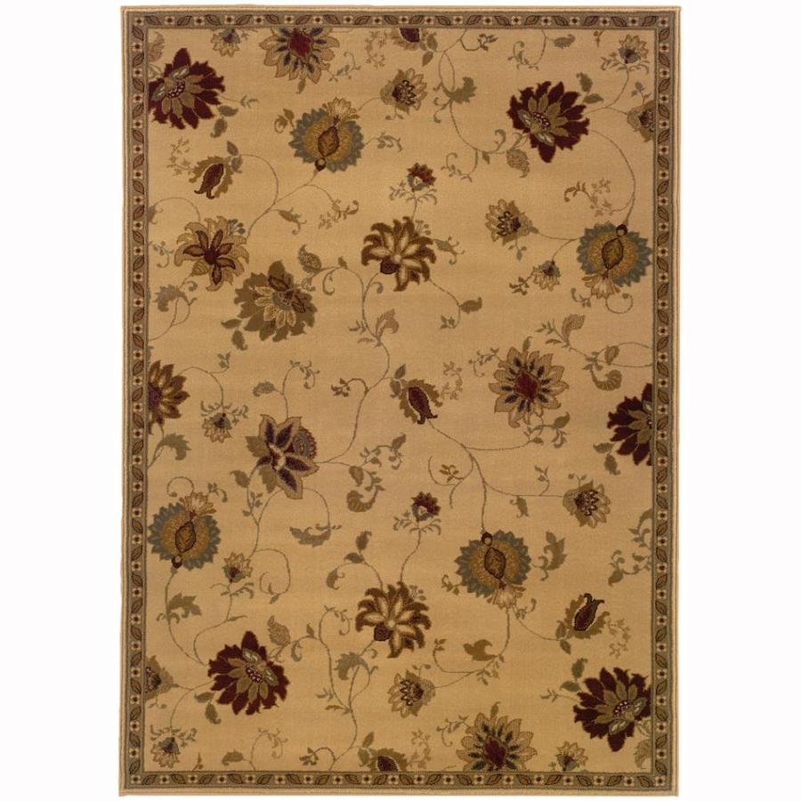 Archer Lane Bellview Ivory Rectangular Indoor Machine-Made Nature Area Rug (Common: 4 x 6; Actual: 3.2-ft W x 5.6-ft L)