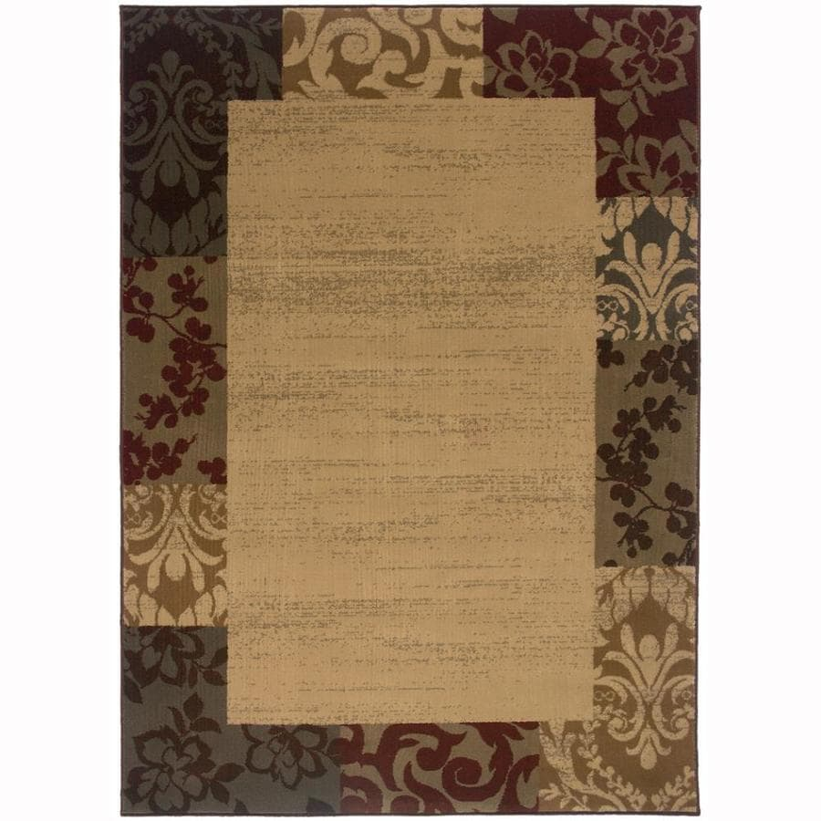 Archer Lane Handford Beige Rectangular Indoor Machine-Made Nature Area Rug (Common: 9 x 12; Actual: 9.8-ft W x 12.8-ft L)