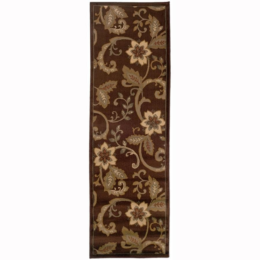 Archer Lane Waites Brown Rectangular Indoor Machine-Made Nature Runner (Common: 2 x 8; Actual: 2.5-ft W x 7.75-ft L)