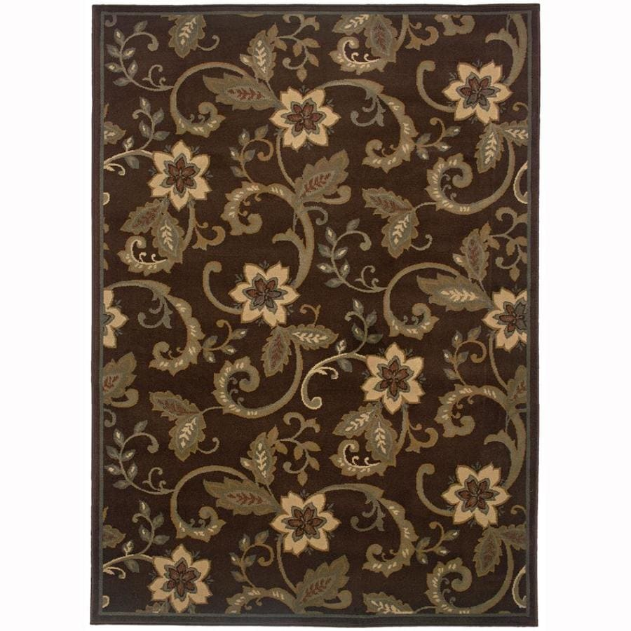 Archer Lane Waites Brown Rectangular Indoor Machine-Made Nature Area Rug (Common: 4 x 6; Actual: 3.2-ft W x 5.6-ft L)