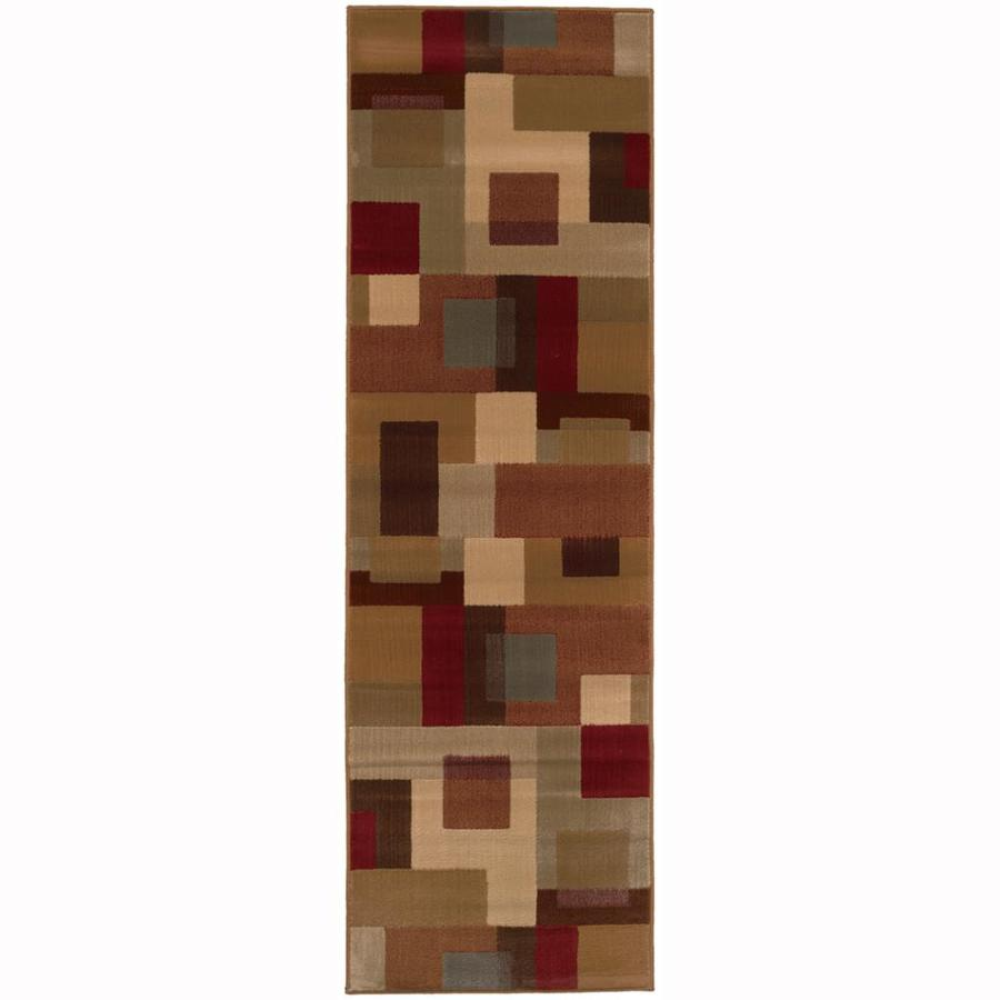 Archer Lane Walnut Red Rectangular Indoor Machine-Made Nature Runner (Common: 2 x 8; Actual: 2.5-ft W x 7.75-ft L)