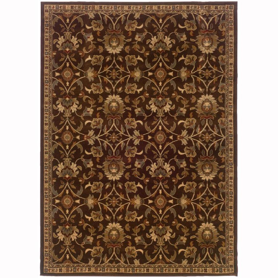 Archer Lane Highland Brown Rectangular Indoor Machine-Made Nature Area Rug (Common: 8 x 11; Actual: 8.2-ft W x 10-ft L)