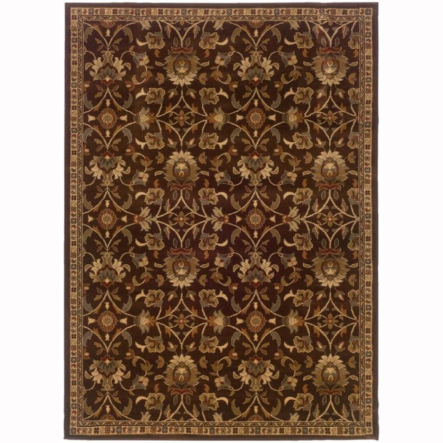 Archer Lane Highland Brown Rectangular Indoor Machine-Made Nature Area Rug (Common: 9 x 12; Actual: 9.8-ft W x 12.8-ft L)