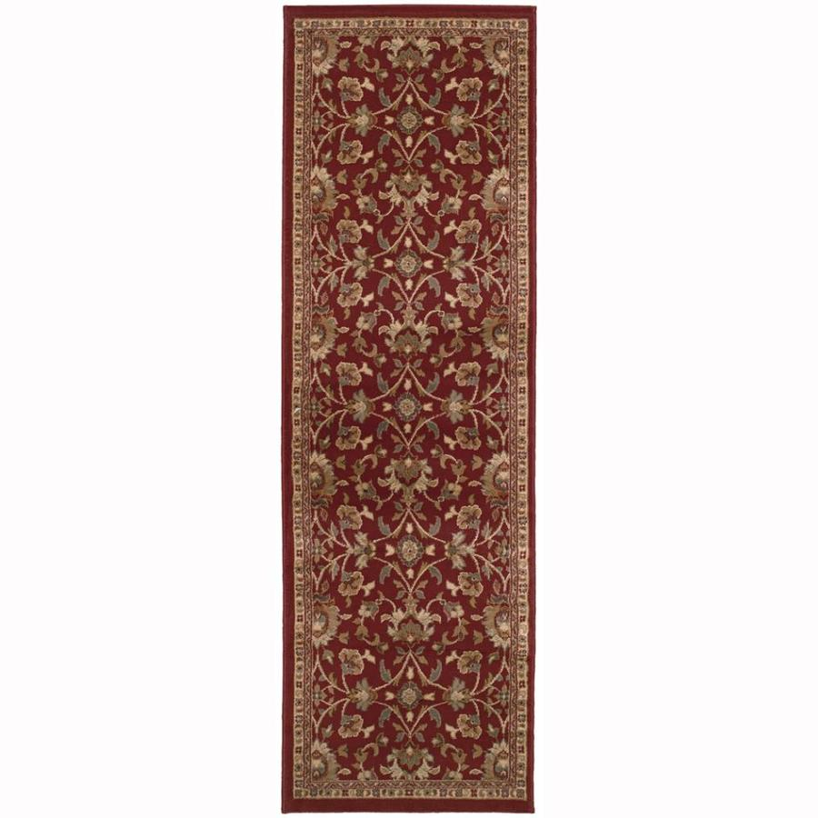 Archer Lane Highland Red Rectangular Indoor Machine-Made Nature Runner (Common: 2 x 8; Actual: 2.5-ft W x 7.75-ft L)