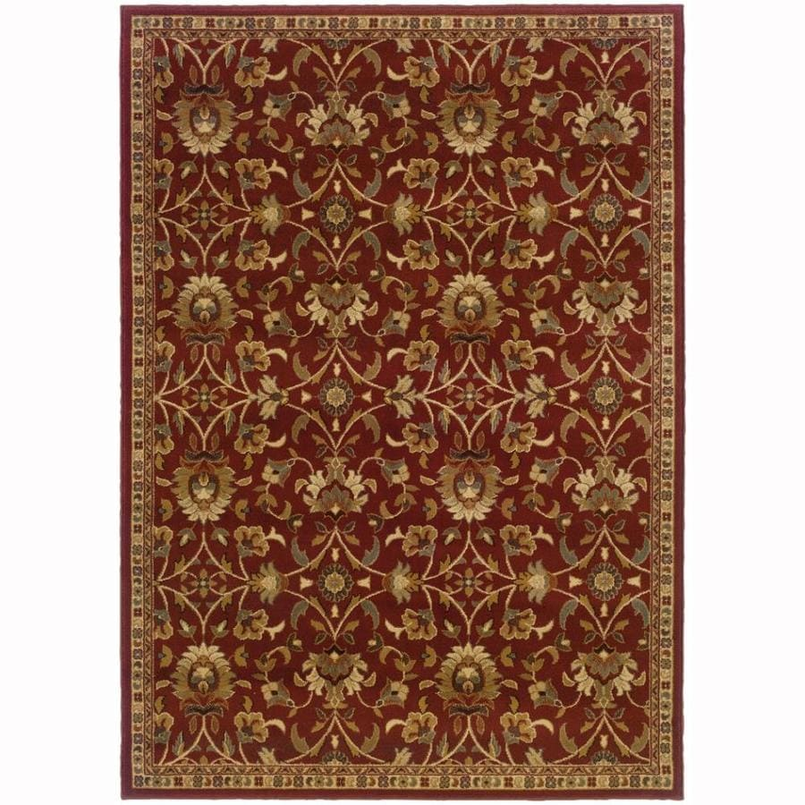 Archer Lane Highland Red Rectangular Indoor Machine-Made Nature Area Rug (Common: 4 x 6; Actual: 3.2-ft W x 5.6-ft L)