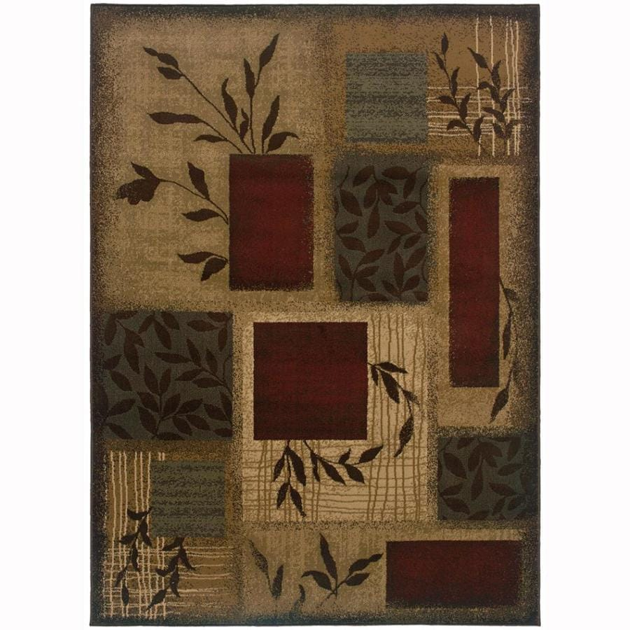 Archer Lane Mill Beige Rectangular Indoor Machine-Made Nature Area Rug (Common: 4 x 6; Actual: 3.2-ft W x 5.6-ft L)