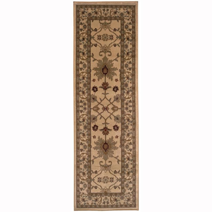 Archer Lane Franklin Ivory Rectangular Indoor Machine-Made Oriental Runner (Common: 2 x 8; Actual: 2.5-ft W x 7.75-ft L)