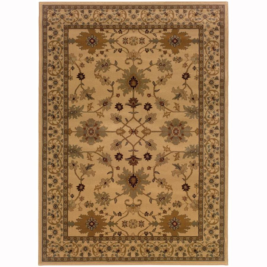 Archer Lane Franklin Ivory Rectangular Indoor Machine-Made Oriental Area Rug (Common: 9 x 12; Actual: 9.8-ft W x 12.8-ft L)