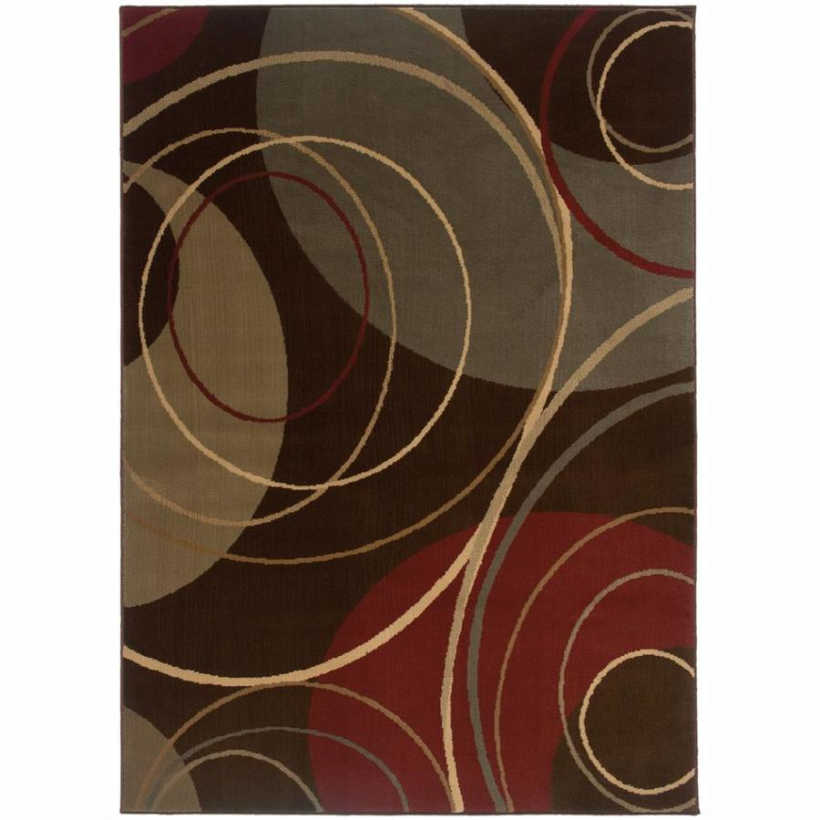 Archer Lane State Brown Rectangular Indoor Machine-Made Nature Area Rug (Common: 4 x 6; Actual: 3.2-ft W x 5.6-ft L)