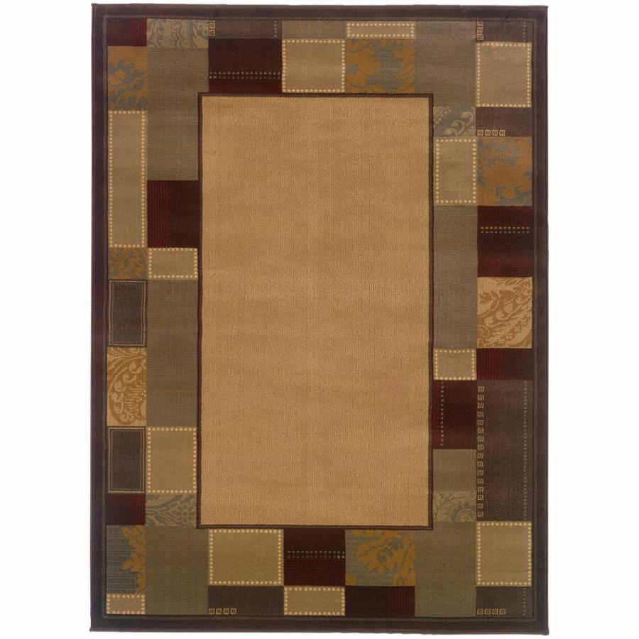 Archer Lane Cedar Beige Rectangular Indoor Machine-Made Nature Area Rug (Common: 4 x 6; Actual: 3.2-ft W x 5.6-ft L)