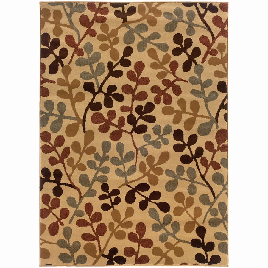 Archer Lane Jefferson Ivory Rectangular Indoor Machine-Made Nature Area Rug (Common: 9 x 12; Actual: 9.8-ft W x 12.8-ft L)