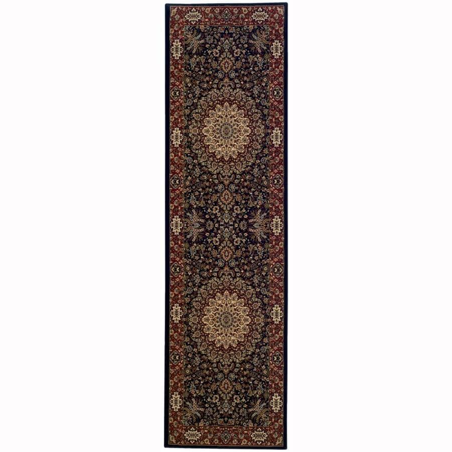 Archer Lane Bridge Blue Rectangular Indoor Machine-Made Oriental Runner (Common: 2 x 8; Actual: 2.25-ft W x 7.75-ft L)