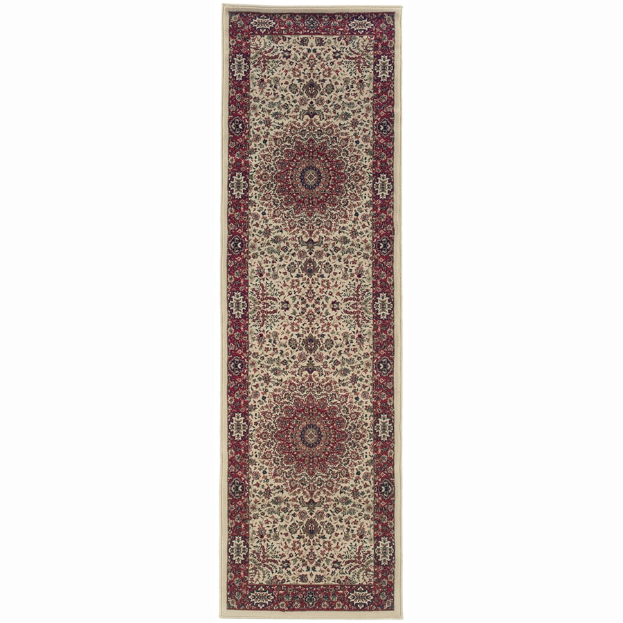 Archer Lane Bridge Ivory Rectangular Indoor Machine-Made Oriental Runner (Common: 2.3 x 9; Actual: 2.6-ft W x 9.3-ft L)