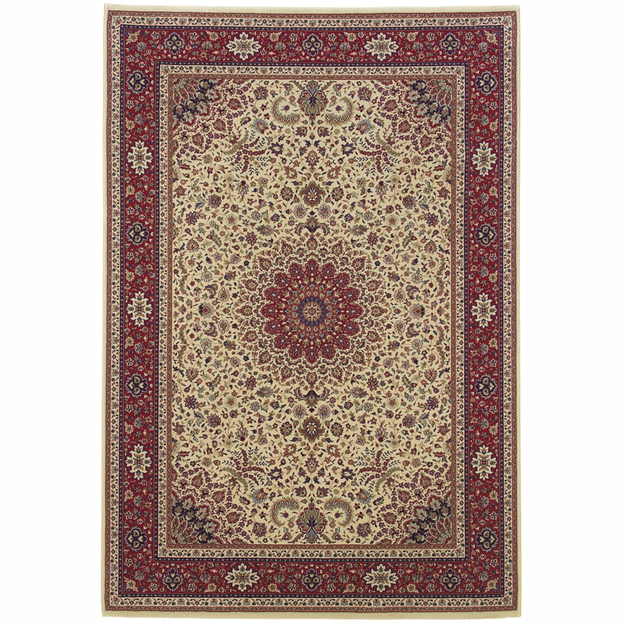 Archer Lane Bridge Ivory Rectangular Indoor Machine-Made Oriental Area Rug (Common: 10 x 14; Actual: 10-ft W x 12.6-ft L)