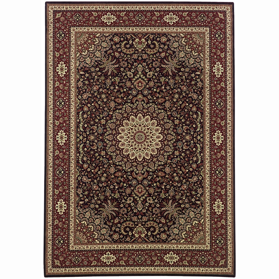 Archer Lane Bridge Brown Rectangular Indoor Machine-Made Oriental Area Rug (Common: 8 x 11; Actual: 7.8-ft W x 11-ft L)