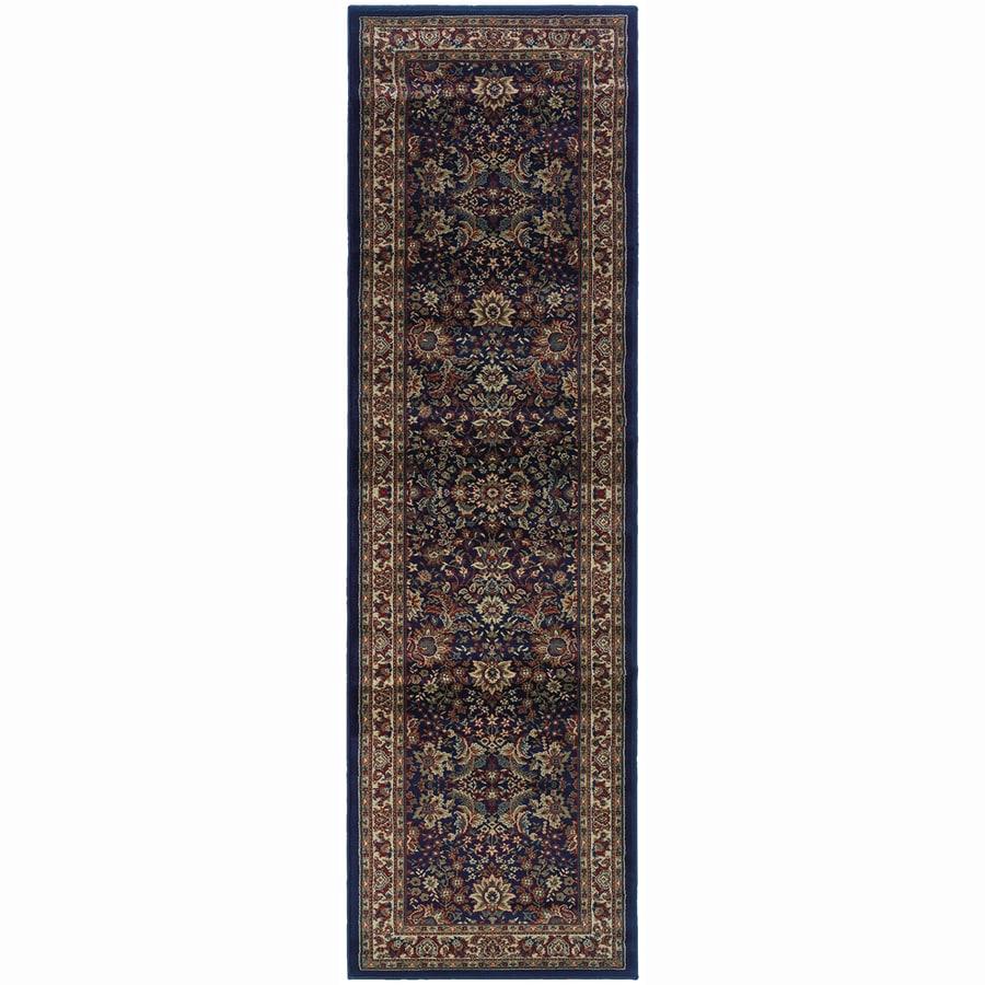 Archer Lane Locust Blue Rectangular Indoor Machine-Made Oriental Runner (Common: 2 x 8; Actual: 2.25-ft W x 7.75-ft L)