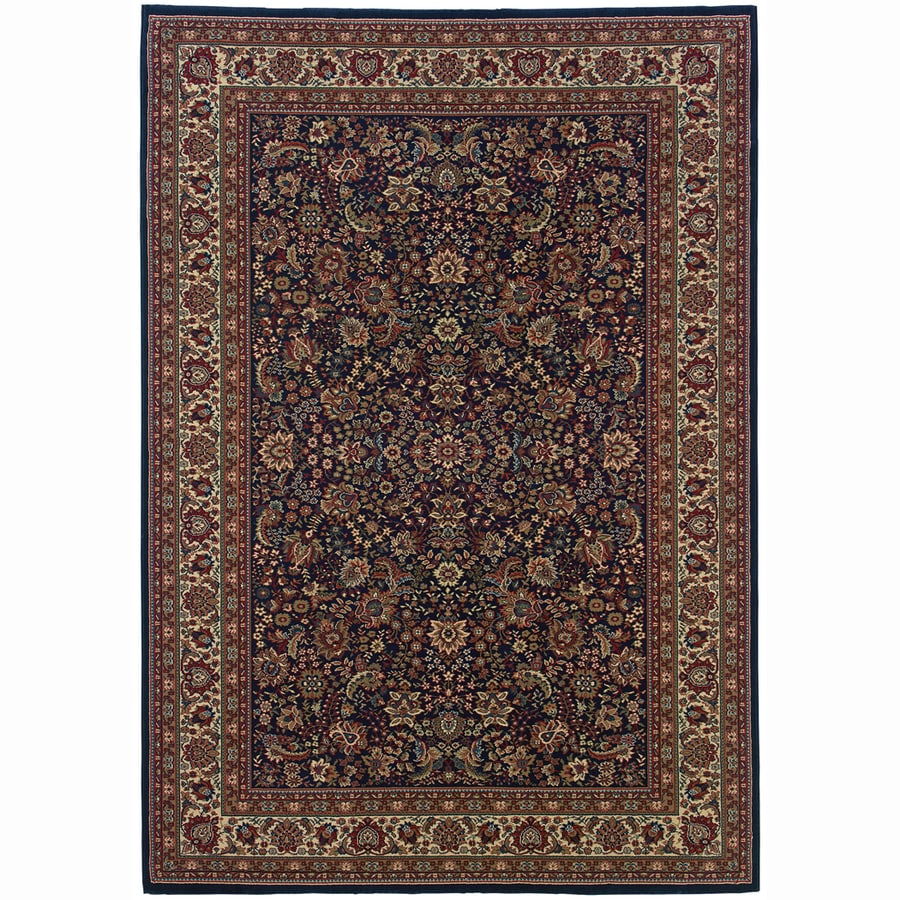Archer Lane Locust Blue Rectangular Indoor Machine-Made Oriental Area Rug (Common: 5 x 7; Actual: 5.25-ft W x 7.75-ft L)