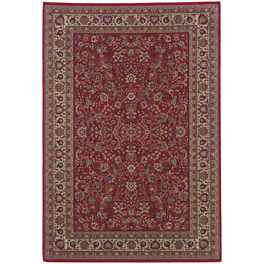Archer Lane Locust Red Rectangular Indoor Machine-Made Oriental Area Rug (Common: 8 x 11; Actual: 7.8-ft W x 11-ft L)