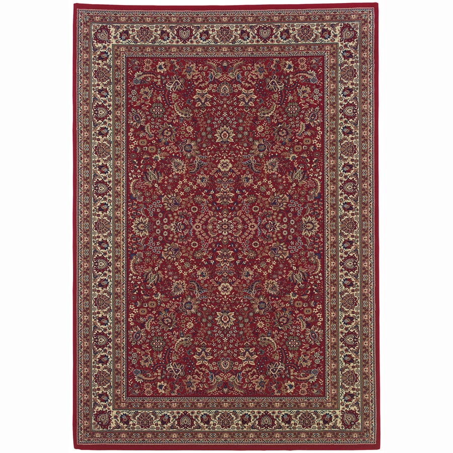 Archer Lane Locust Red Rectangular Indoor Machine-Made Oriental Area Rug (Common: 10 x 14; Actual: 10-ft W x 12.6-ft L)