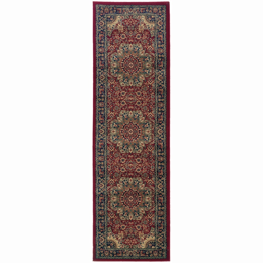 Archer Lane Grove Red Rectangular Indoor Machine-Made Oriental Runner (Common: 2.3 x 9; Actual: 2.6-ft W x 9.3-ft L)