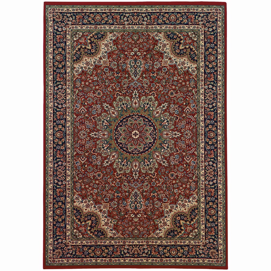 Archer Lane Grove Red Rectangular Indoor Machine-Made Oriental Area Rug (Common: 5 x 7; Actual: 5.25-ft W x 7.75-ft L)