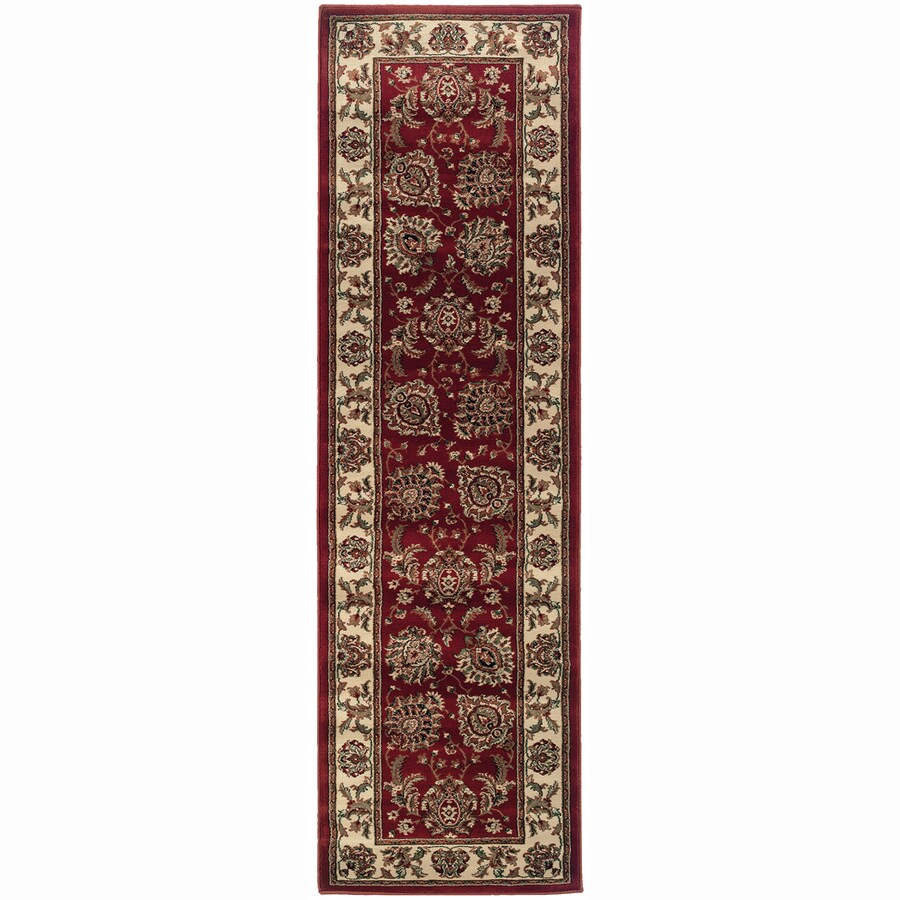 Archer Lane Jackson Red Rectangular Indoor Machine-Made Oriental Runner (Common: 2 x 8; Actual: 2.25-ft W x 7.75-ft L)