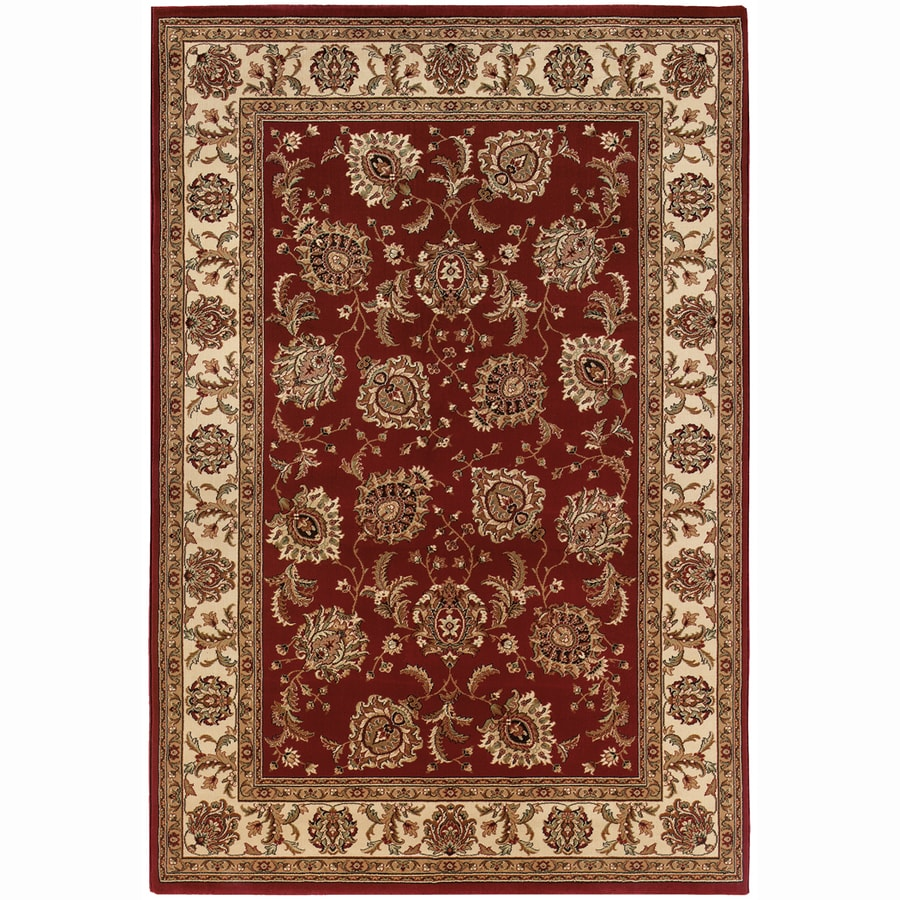 Archer Lane Jackson Red Rectangular Indoor Machine-Made Oriental Area Rug (Common: 8 x 11; Actual: 7.8-ft W x 11-ft L)