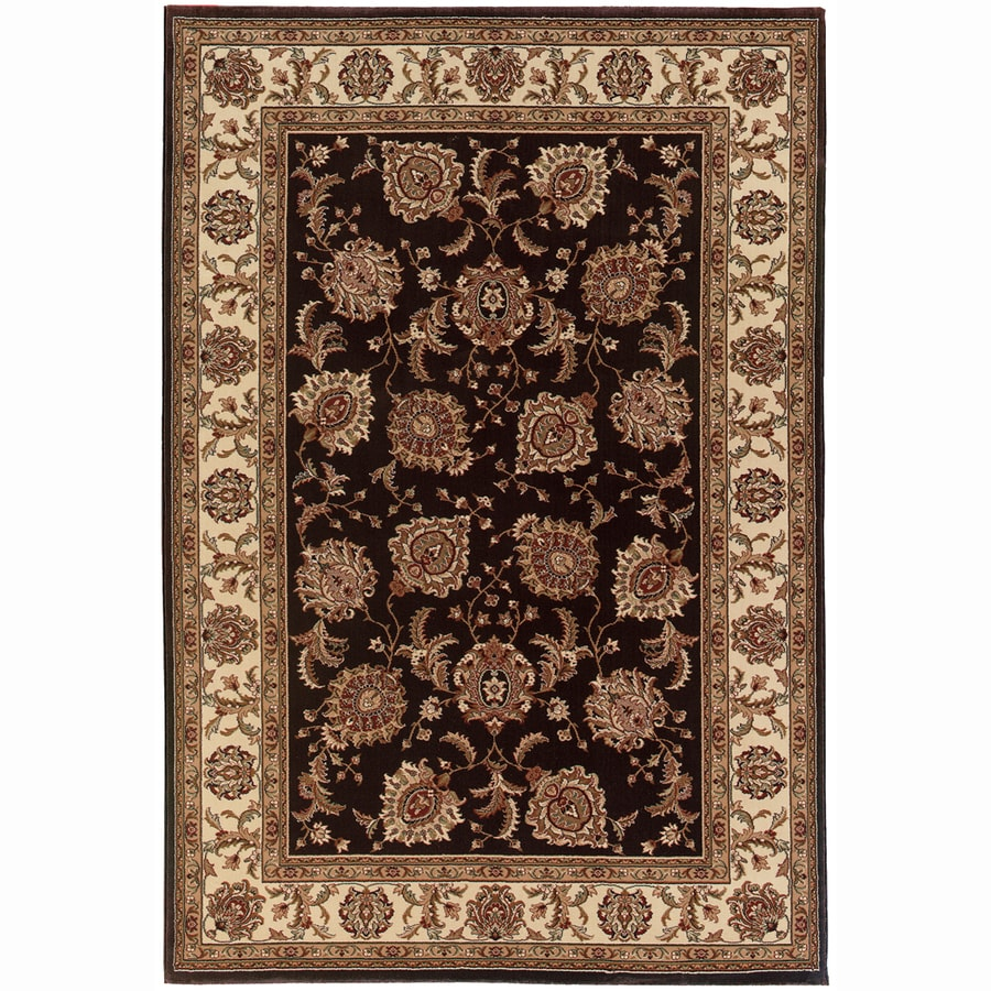 Archer Lane Davis Brown Rectangular Indoor Machine-Made Oriental Area Rug (Common: 8 x 11; Actual: 7.8-ft W x 11-ft L)