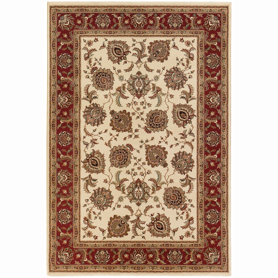 Archer Lane Davis Ivory Rectangular Indoor Machine-Made Oriental Area Rug (Common: 10 x 14; Actual: 10-ft W x 12.6-ft L)