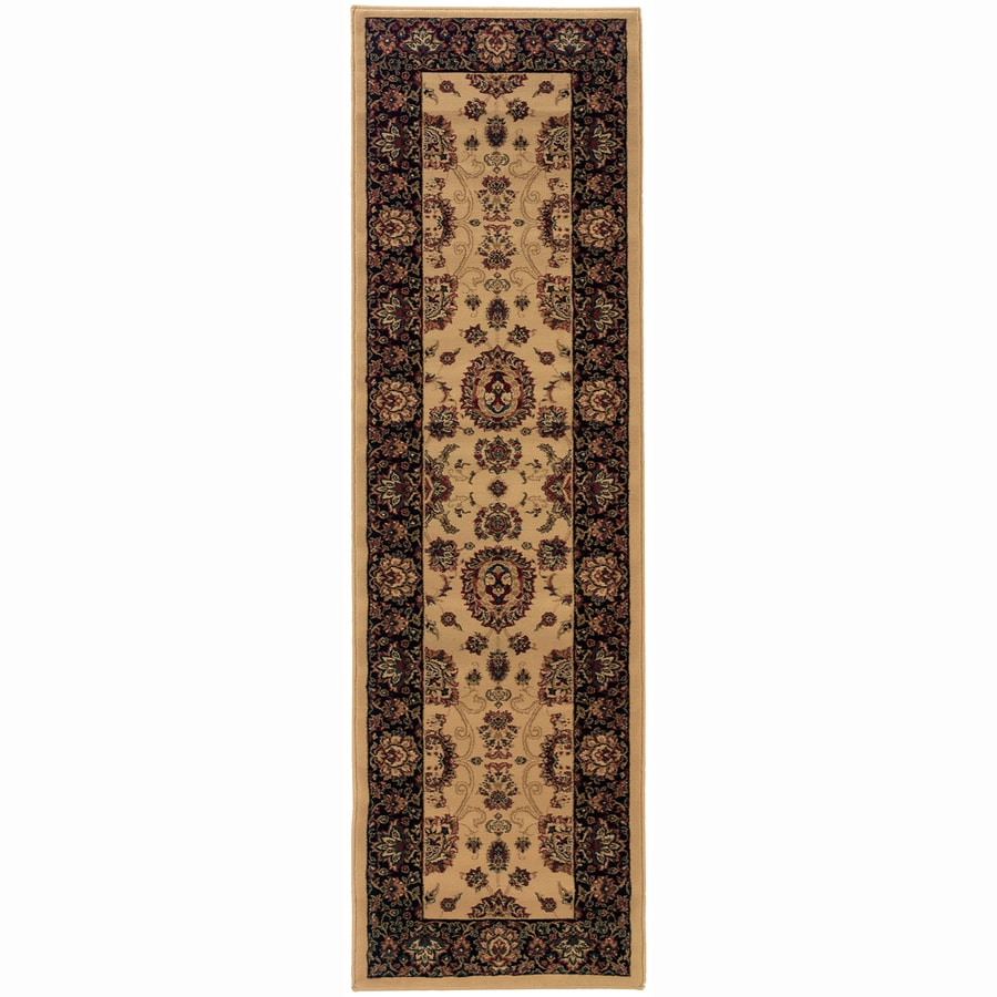 Archer Lane Meadow Ivory Rectangular Indoor Machine-Made Oriental Runner (Common: 2 x 8; Actual: 2.25-ft W x 7.75-ft L)