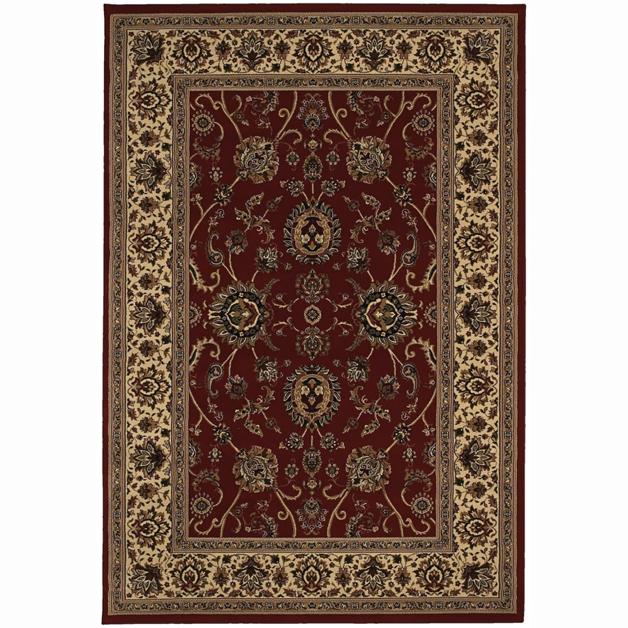 Archer Lane Meadow Red Rectangular Indoor Machine-Made Oriental Area Rug (Common: 5 x 7; Actual: 5.25-ft W x 7.75-ft L)