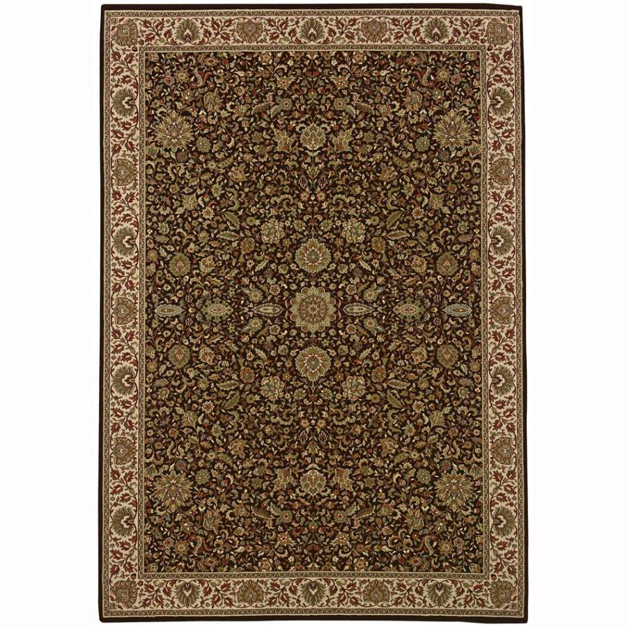 Archer Lane Pleasant Brown Rectangular Indoor Machine-Made Oriental Area Rug (Common: 8 x 11; Actual: 7.8-ft W x 11-ft L)
