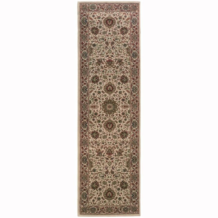 Archer Lane Pleasant Ivory Rectangular Indoor Machine-Made Oriental Runner (Common: 2.3 x 9; Actual: 2.6-ft W x 9.3-ft L)