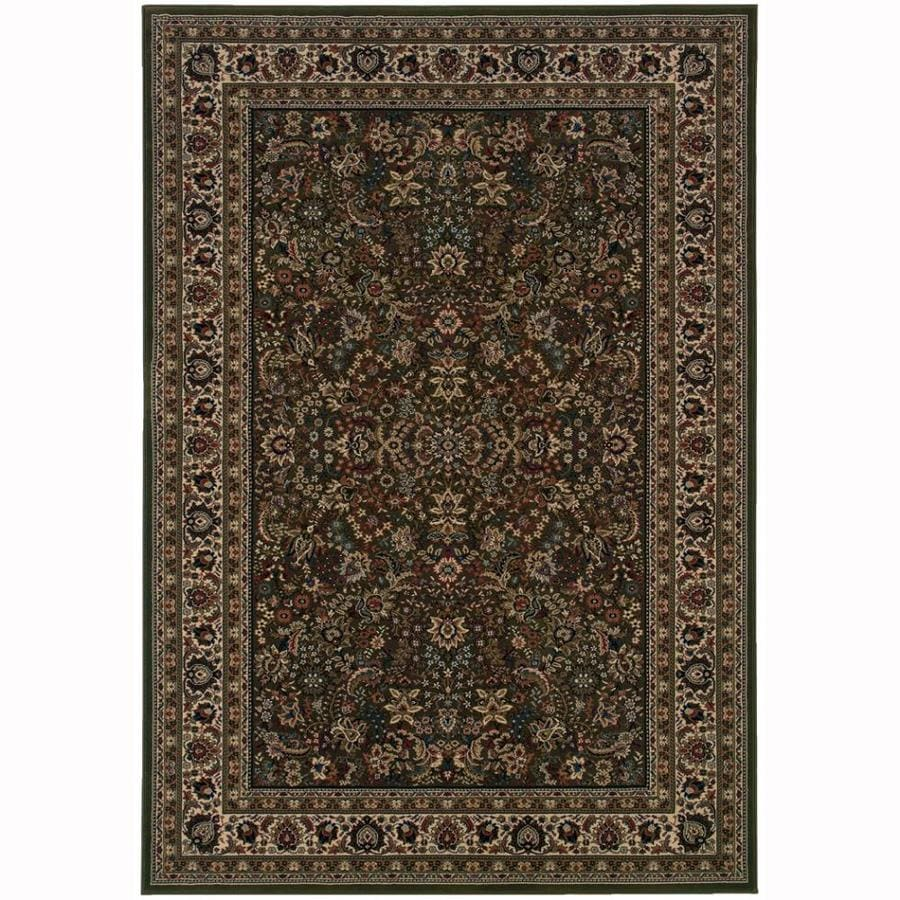 Archer Lane Spruce Green Rectangular Indoor Machine-Made Oriental Area Rug (Common: 5 x 7; Actual: 5.25-ft W x 7.75-ft L)