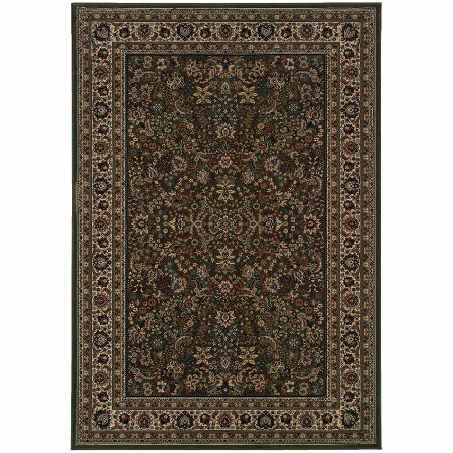 Archer Lane Spruce Green Rectangular Indoor Machine-Made Oriental Area Rug (Common: 10 x 14; Actual: 10-ft W x 12.6-ft L)